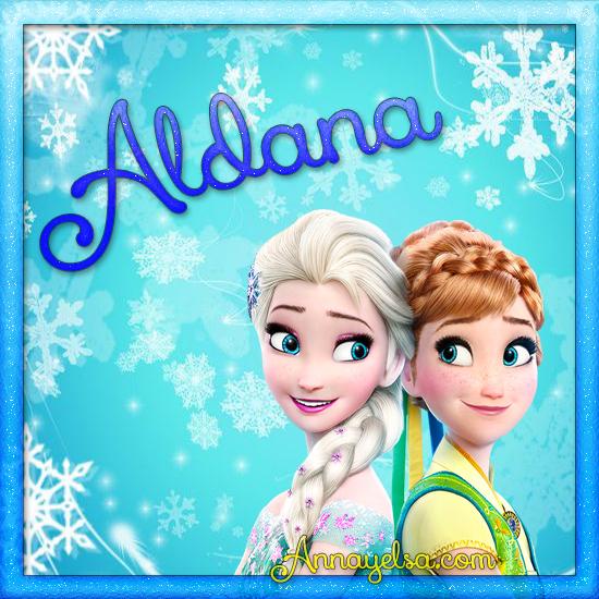 Imágenes de Frozen con nombre Aldana