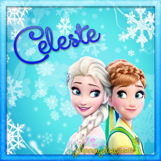 Imagen de Frozen con nombre Celeste
