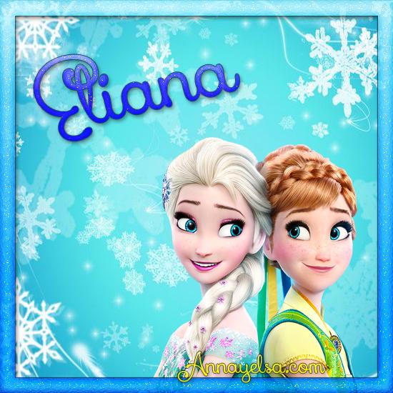 Imagen de Frozen con nombre Eliana