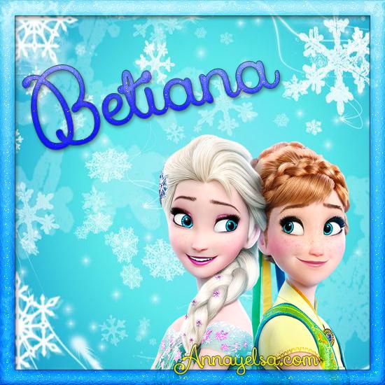 Imagenes de Frozen con nombre Betiana