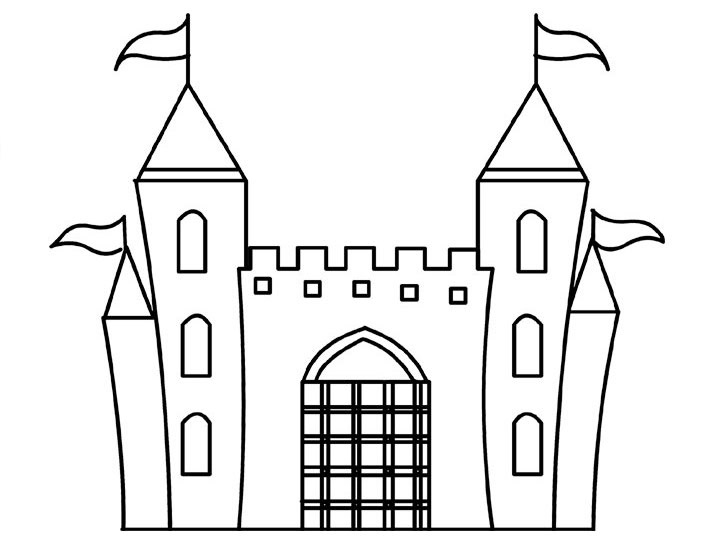 dibujo castillo frozen