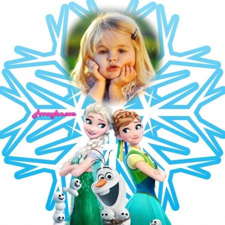 Fotomontaje de Frozen copo de nieve