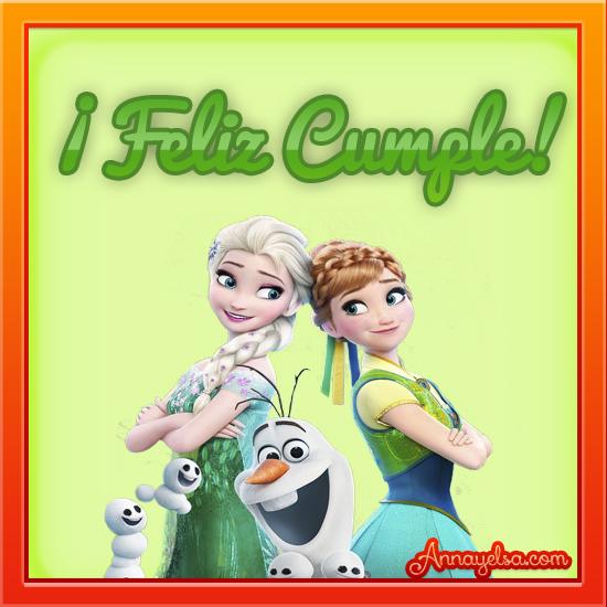 Imágenes de Frozen con frase Feliz Cumpleaños | -Tu sitio