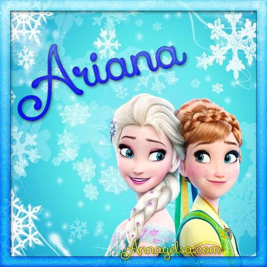 Imágenes de Frozen con nombre Ariana