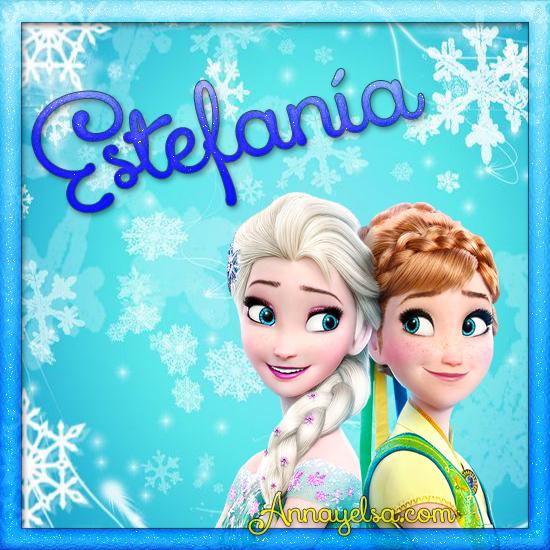 Imagen de Frozen con nombre Estefania