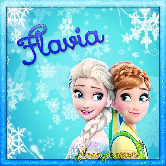 Imagen de Frozen con nombre Flavia