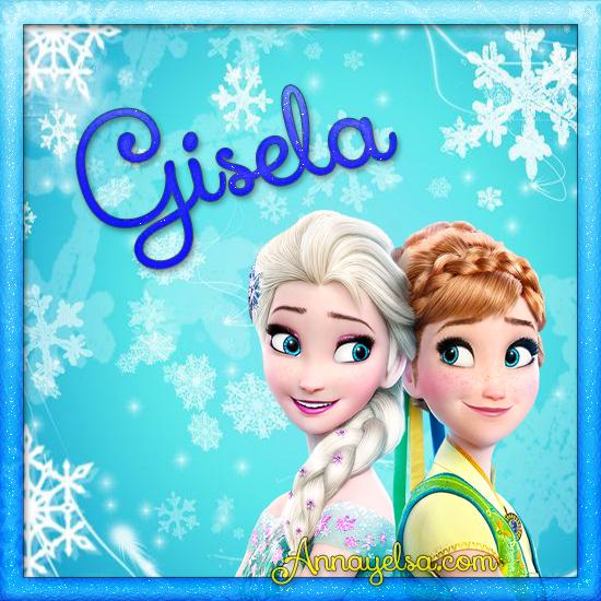 Imagen de Frozen con nombre Gisela