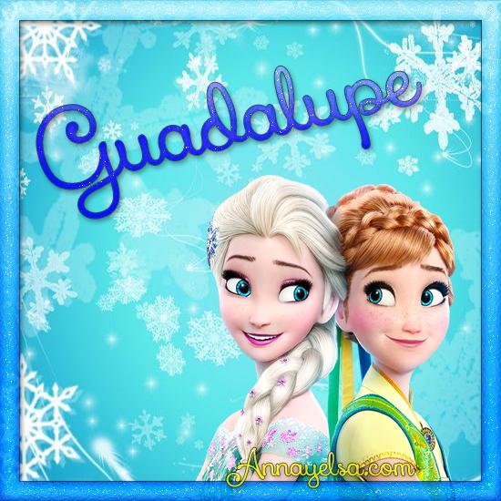 Imagen de Frozen con nombre Guadalupe