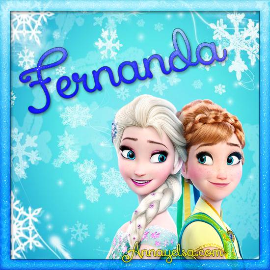 Imagen de Frozen con nombre fernanda