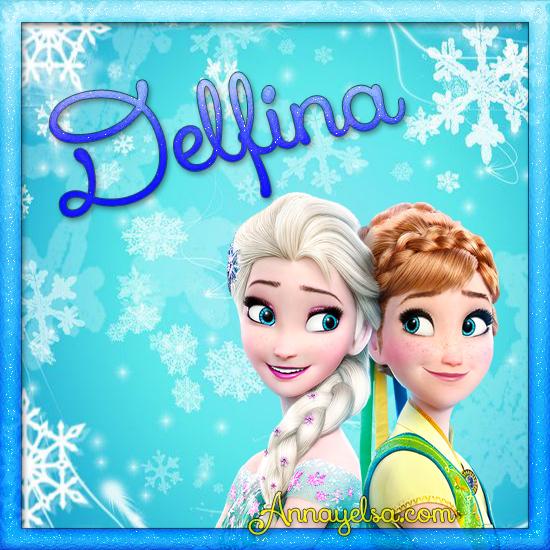 Imagenes de Frozen con nombre Delfina