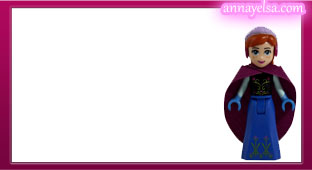 Etiquetas Frozen Luces magicas Anna stickers