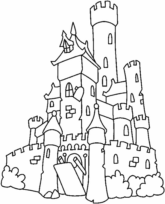 Dibujos Castillos Frozen Para Colorear
